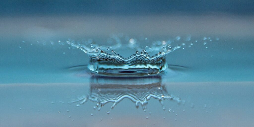 A drop of water creating ripples