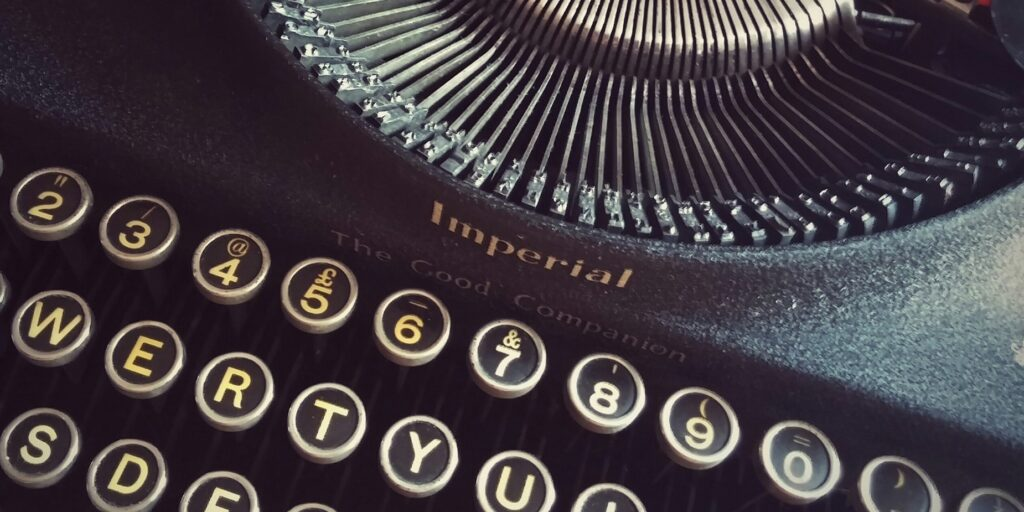 Close-up of a classic typewriter