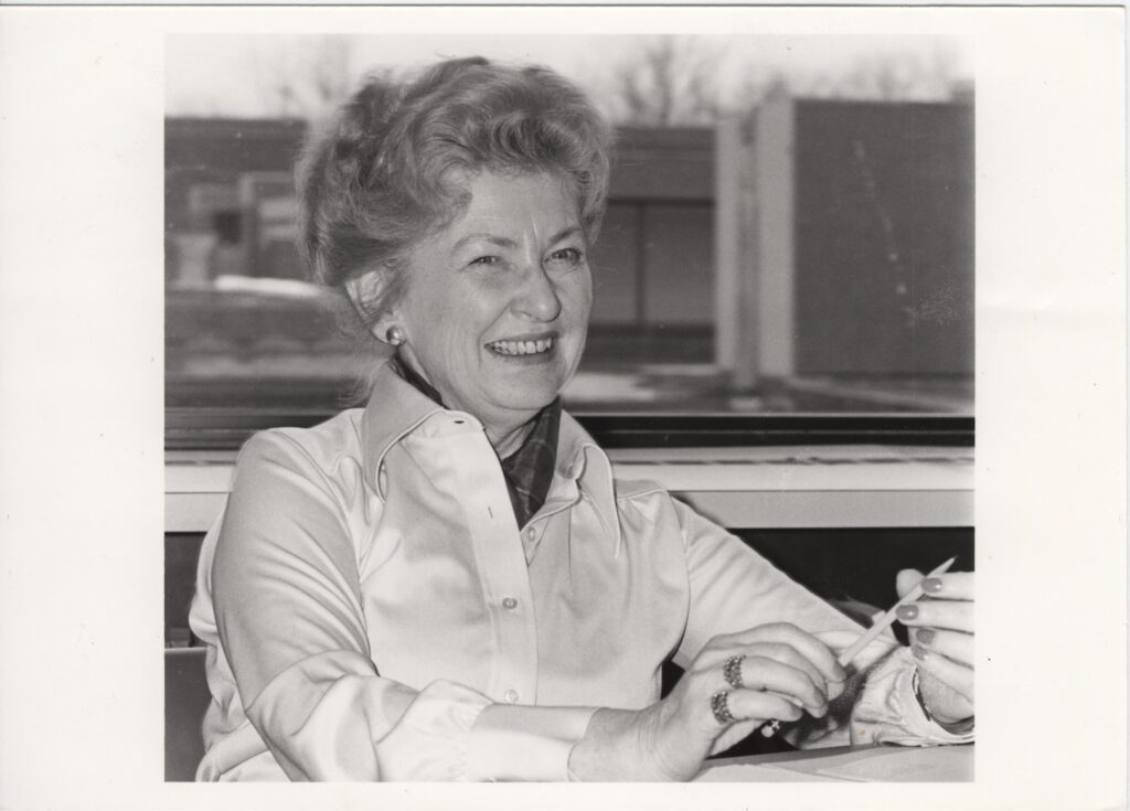 Portrait of Prof. Clara Thomas, York University Libraries, Clara Thomas Archives & Special Collections, Clara Thomas fonds, ASC00524