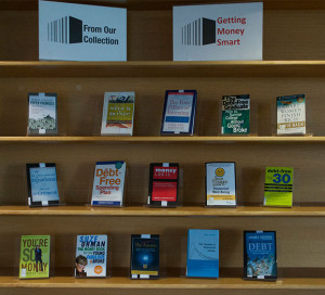 "Photo of the Book Display, ""Getting Money Smart"""