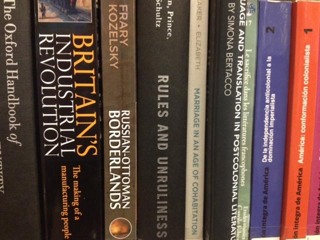 Shelf with books on it