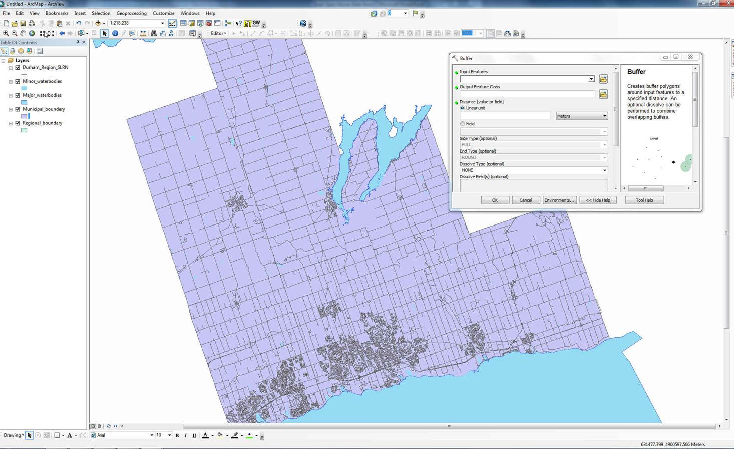 screen shot of ArcGIS software