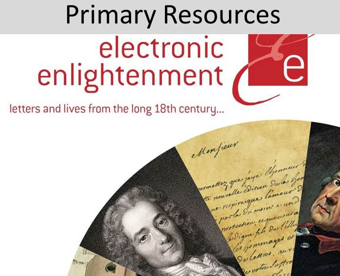 Link to Electronic Enlightenment E-Resource