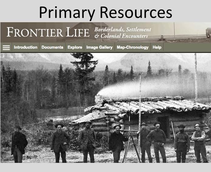 link to Frontier Life Eresource by Adam Matthew Digital