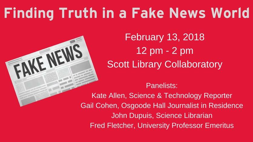 Promo image for Fake News event
