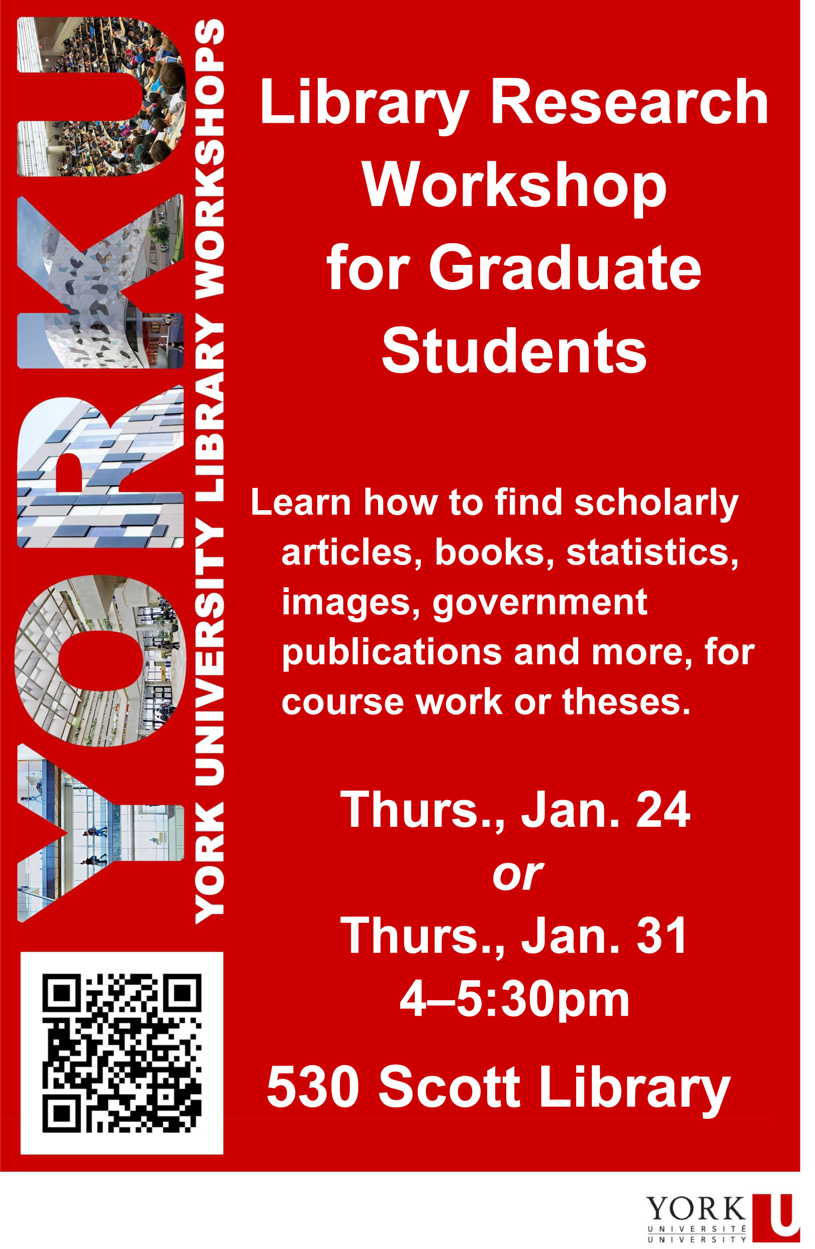 Library Research Workshop for Graduate Students | York