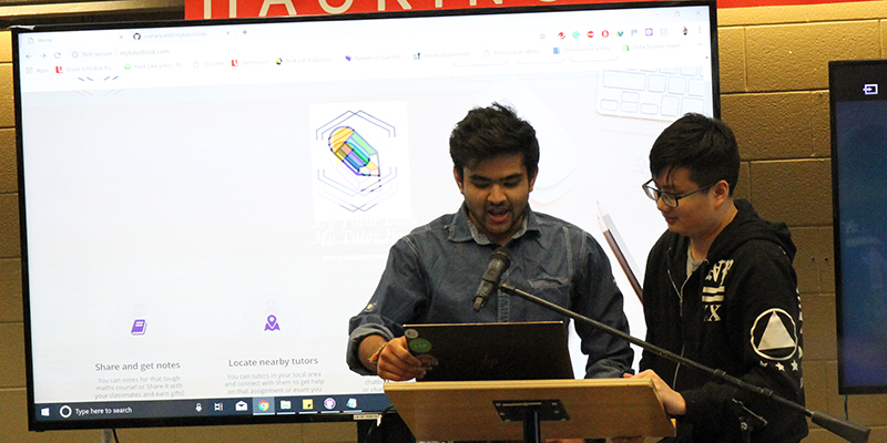 Team MyTutorBook presents their project at the 2019 Steacie Library Hackfest