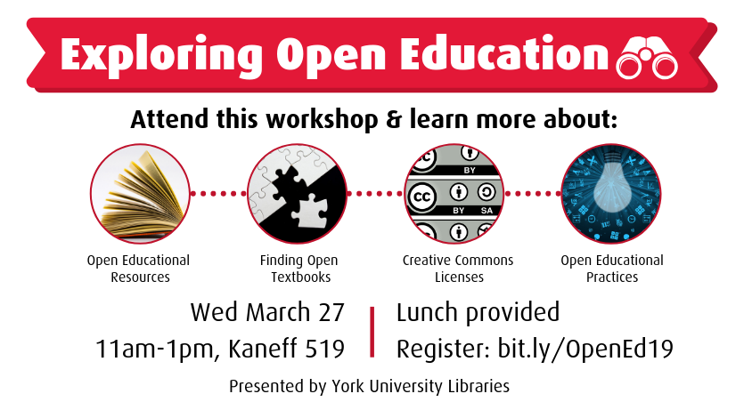 York University Libraries to host Exploring Open Education workshop