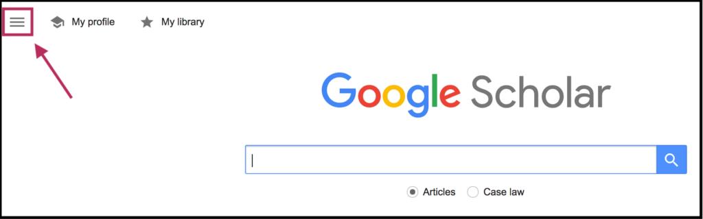 google-scholar-hamburger-menu